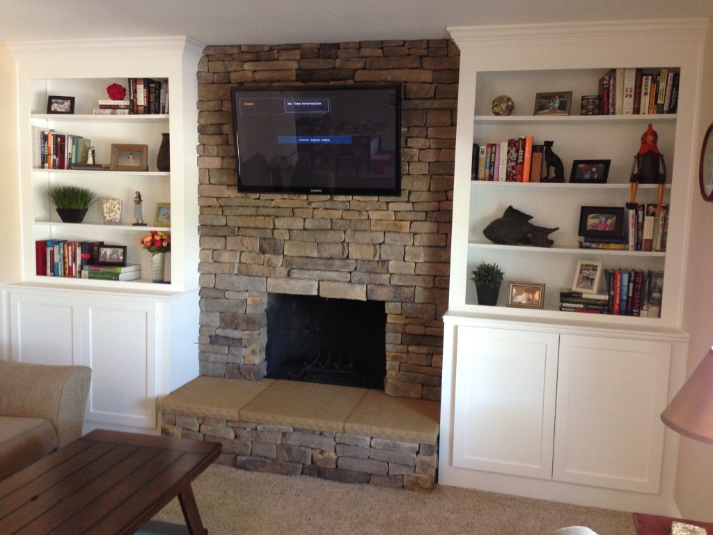 remodeling project idea using rustic brick