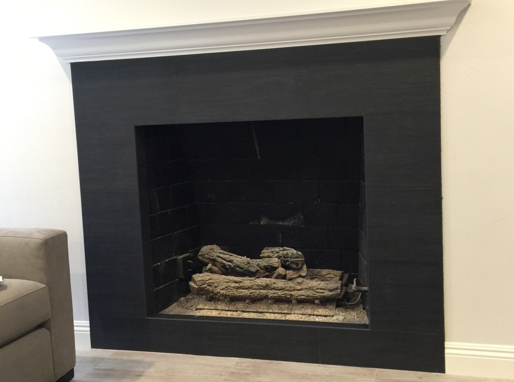grey is a popular interior remodeling color even for fireplaces