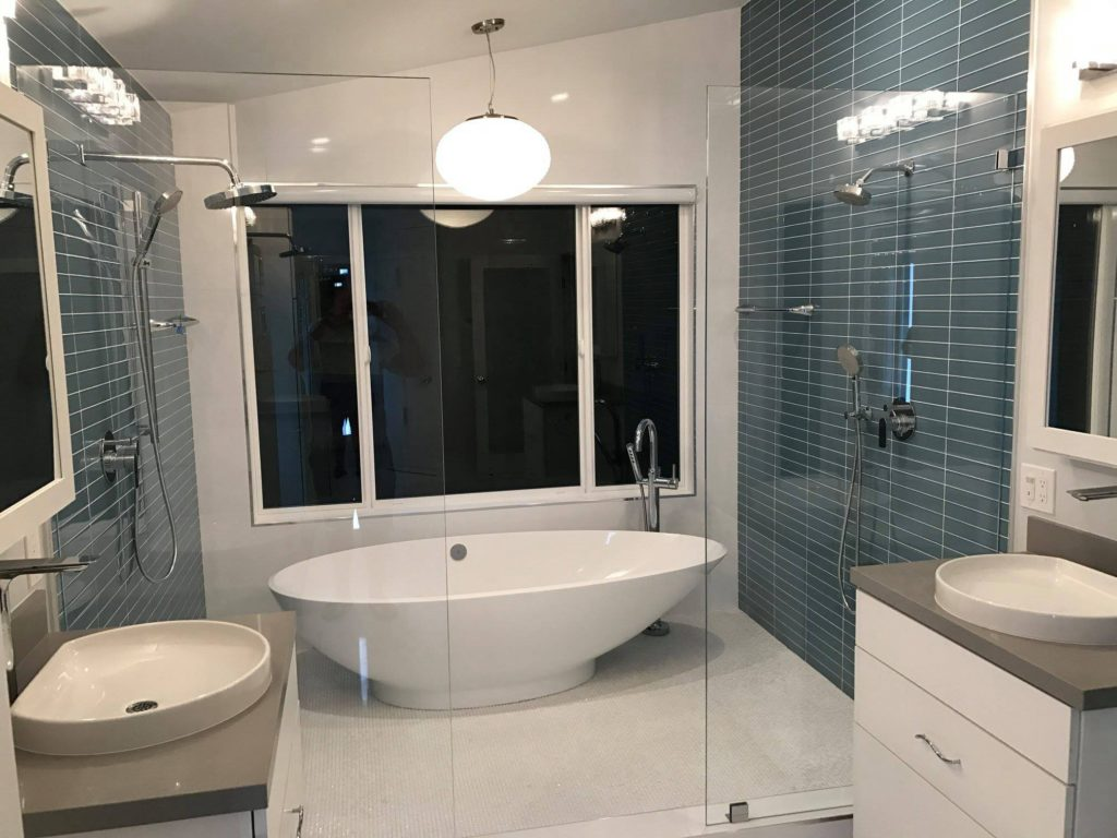 tub-in-shower-Aliso-Viejo-1024x768 Small Bathroom With Freestanding Tub Designs on small shower with soaking tubs, small round soaking tub, small space shower and tub, small bathroom designs with clawfoot tub,